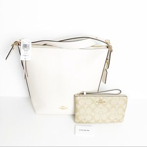 COACH | Leather Crossbody and Wallet Set NWT